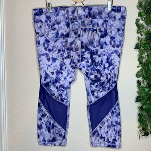 Old navy watercolor mesh athletic crop XXL